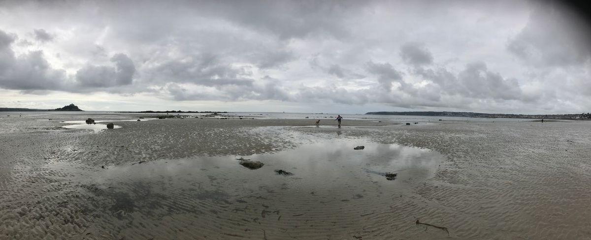 Beach mood Brooding Tide Out Sand Beach Peace Moody Calm Mood Grey Sky