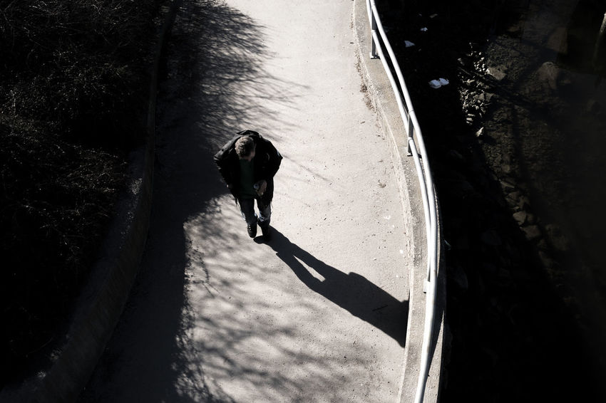 walking Lines And Curves Outdoors Path Pathway Person Shaddow Silhouette Sony A7 Streetphotography Vintage Lens Water Way Forward Welcome To Black Welcome To Black Break The Mold The Street Photographer - 2017 EyeEm Awards Place Of Heart