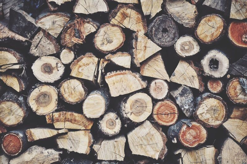 Full frame shot of firewood