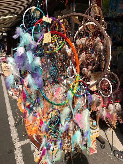 Dream Catcher Dreamcatcher Colorful Colourful Dream Catcher Feather  Feather Dream Catcher Queenvictoria Queen Victoria Market Melbourne Melbourne City Australia Dreamcatchers Taken With IPhone7plus