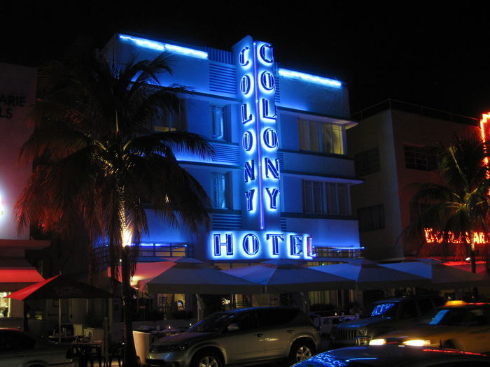 Colony Hotel Architecture Blue Building Exterior Illuminated Neon Night No People Outdoors EyeEmNewHere