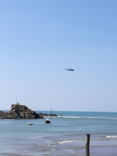 Airplane Flying Beach Sea Outdoors Sky Cornwall Beach Incoming Tide Flypast