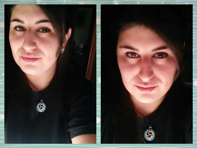 Sunny Day Sunlight Eyes Black Dolphins Blue Necklace Smile