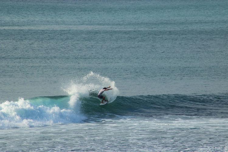 Surf the Wave Bali Surf Surfer Wave Beach Island Nature Ocean Sea Summer Water