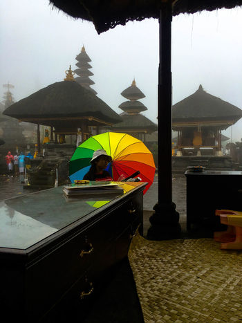 Spirituality Besakih Temple Colorful colour of life Life Is A Journey Selling Temple Umbrella