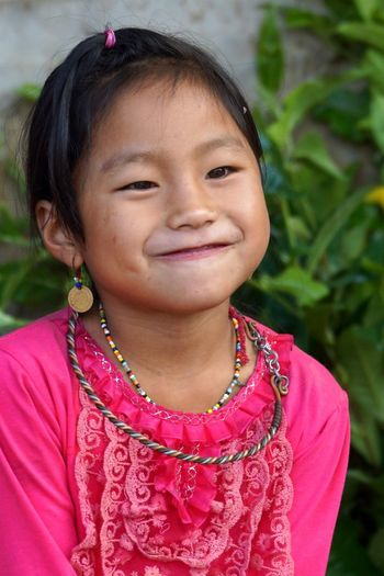 Littel Girl Pink Pink Color Kidsphotography Kids Portrait Mucangchai Vietnam October2015 Faces Of EyeEm Eyeem People + Portrait EyeEm Vietnam Travel Photography
