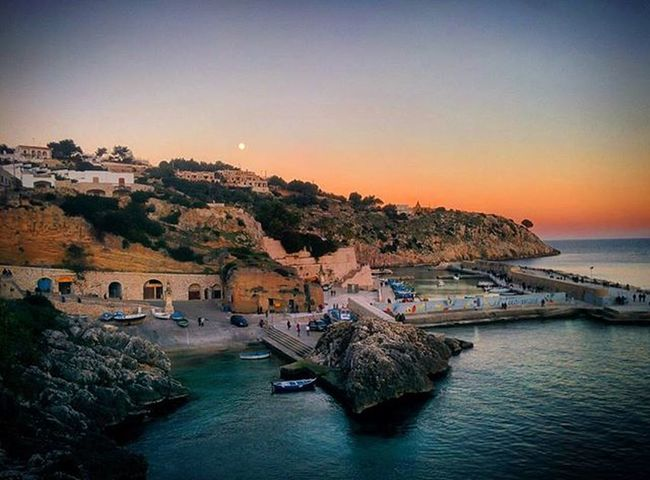 Salento Mare Sea Cielo Sky Tramonto Puglia Italia Italy Castro Castromarina Luna Moon