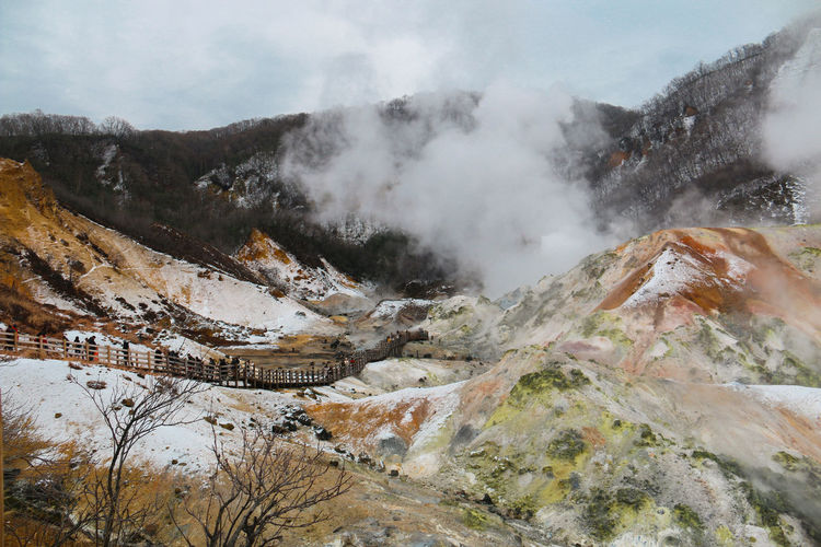 Hell valley, jigokudani during winter times
