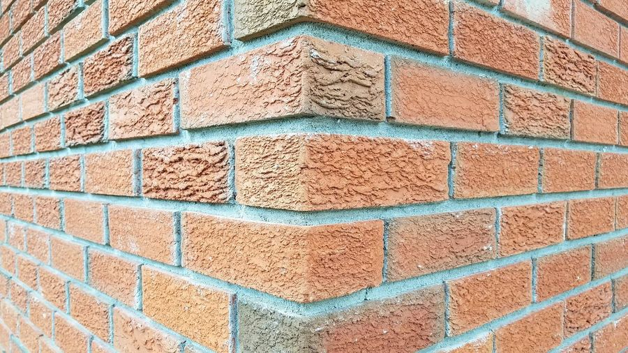 Backgrounds Full Frame Textured  Brick Wall Pattern Day Outdoors No People Architecture Multi Colored Built Structure Close-up Perspective Brick Wall Retro Styled