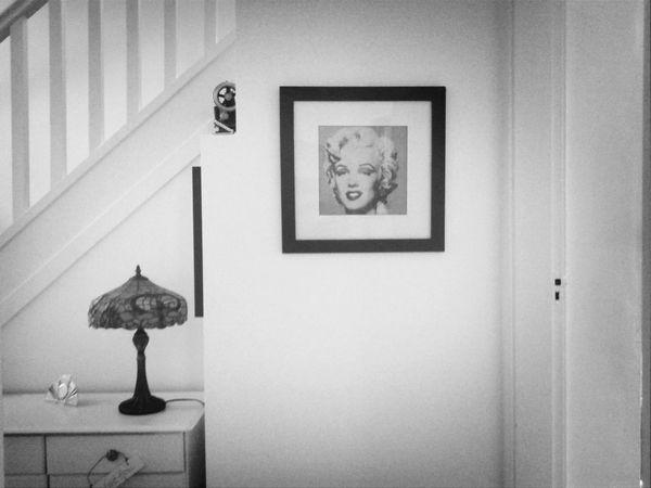 Marilyn Monroe Blackandwhite Composition Tiffany Lamp