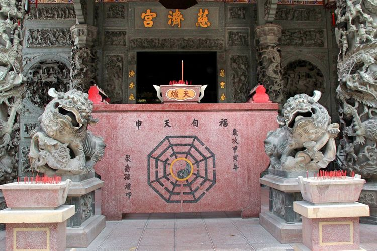 Art Buddha Carving Carving - Craft Product Craft Creativity Cultures Day No People Ornate Outdoors Red Sculpture Statue Temple Temple - Building Temple Entrance Temples The Past Travel Destinations