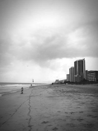 Monochrome Photography Sea Water Building Exterior Beach Sky Horizon Over Water Cloud - Sky Waterfront Tranquility Calm Tranquil Scene Cloudy Shore Scenics Nature Cloud Outdoors Beauty In Nature My Year My View The City Light Neighborhood Map The Architect - 2017 EyeEm Awards