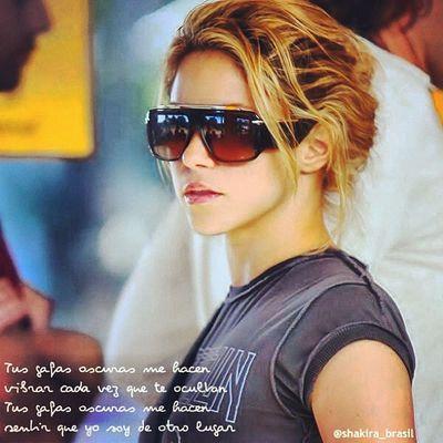ShakiraLyrics - Tus Gafas Oscuras Shakirabrasil