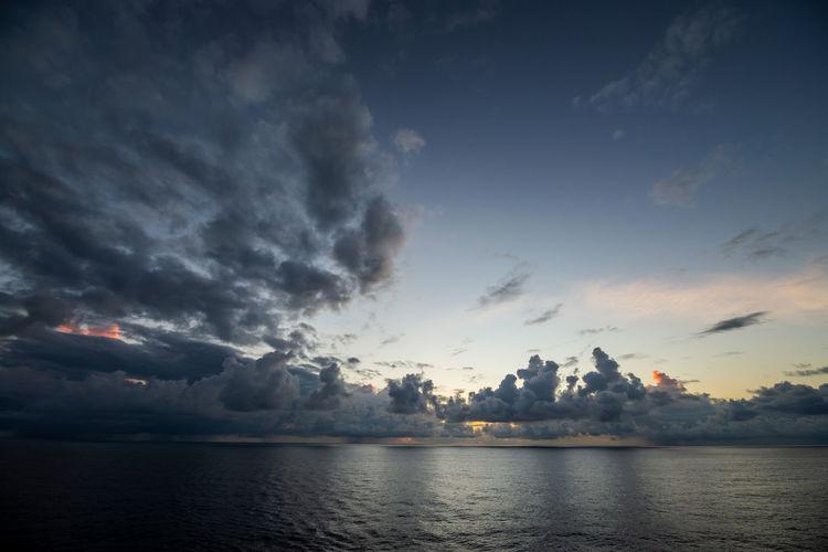 Clouds on horizon 06 Morning Rain Reflection Cloud - Sky Dawn Dusk Horizon Over Water Nature Ocean Reflection Sea Seascape Sky Sunrise Sunset Tranquility Water