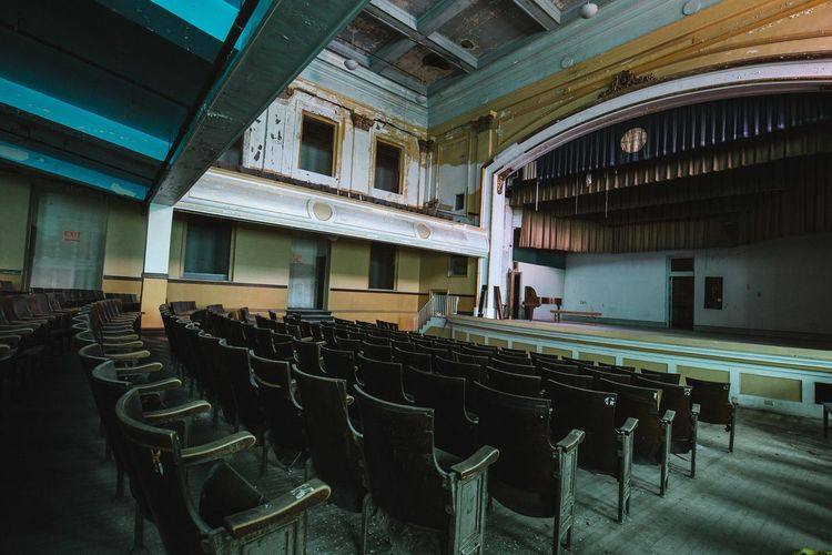 Chair Indoors  Seat In A Row Auditorium Classroom Education Empty Lecture Hall Architecture Built Structure University No People Courtroom Day Seminar Theater Abandoned The Week On EyeEm