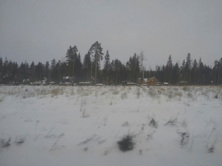 Blackberryphoto Blackberrypassport Train Window Winter Motion