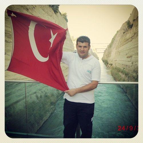 Turkey Bayrak Sea Deniz grecee yunanistan korint kanal seaman line
