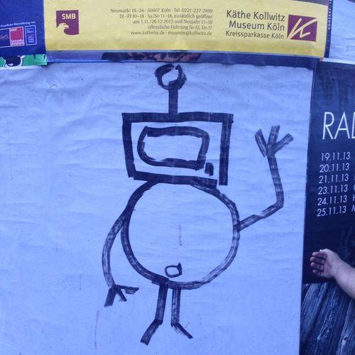 Grüß Bot! Robots Robotlove Litfaßsäule