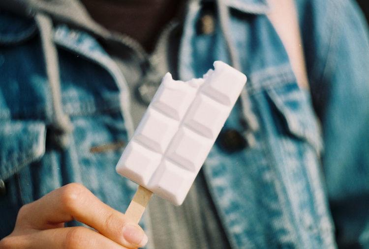Hand holding ice cream