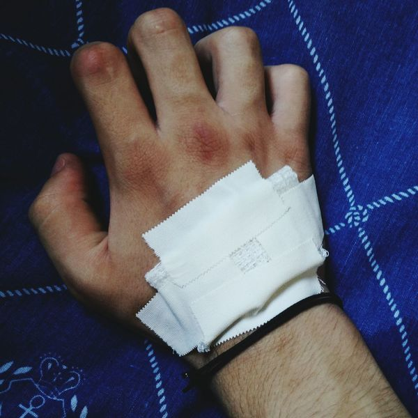 Hand Again Band Aid Curative Beautiful I Think :)