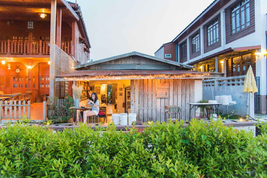 Bagpack Chiang Khan City Happy Happy People Landmark Landscape Loei Loei,thailand Mae Khong Night Market People Relax Thailand Tourism Tranditional Travel Vacation