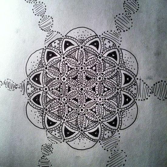 Floweroflife Sacredgeometry Doodles Vibeanddirect gift love