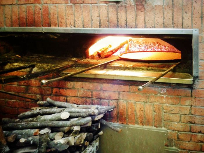 Farinata Forno A Legna Wood Oven Trattoria Friggitoria Da Guglie Genova Typical Food Food Food And Drink No People Indoors  Food And Drink Establishment Freshness Day Smartphone Photography Android Photography S3 Mini Heat - Temperature Socca Cecina