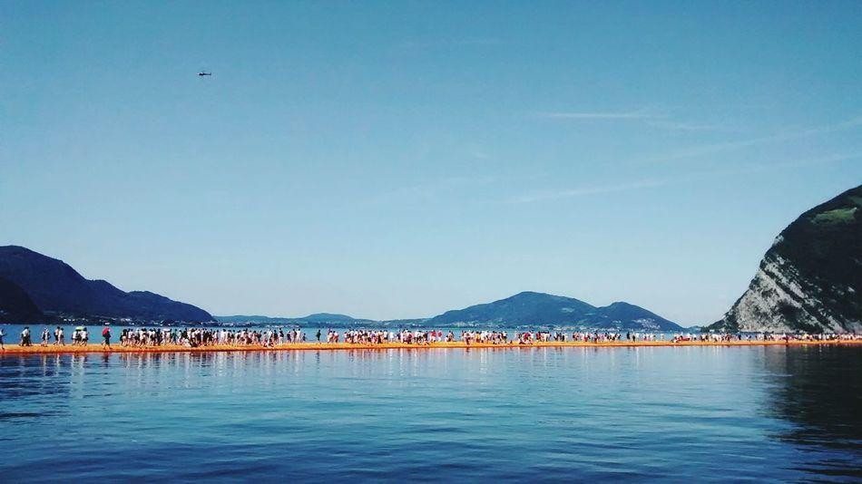 The Floating Piers Montisola Iseo Lake Iseo Sulzano Mountain