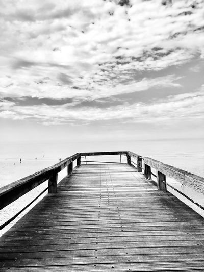 Sky Cloud - Sky Water Sea Nature Beauty In Nature Pier Day Scenics - Nature Tranquil Scene Horizon Tranquility Direction
