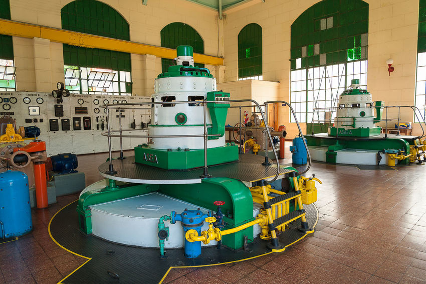 Hydroelectric power plant Hydroelectric Power Plant Plant Electricity  Building Historic Residential Structure Machine Valve Pressure Gauge Office Building