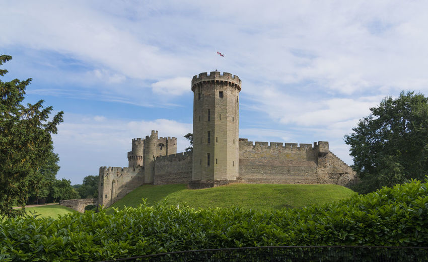 Warwick Castle England Architecture Built Structure Building Exterior Plant Sky History Building Nature The Past Fort Tree Cloud - Sky Travel Destinations Tower Day Grass Travel No People Castle Outdoors Castle Medevil Warm Clothing War If The Roses Roses Turret Wall Portcullas Archery Moat Stone