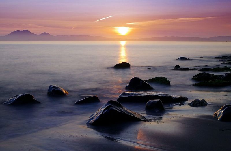 Sunset Landscape Sea Night Travel Travel Destinations Arts Culture And Entertainment Beauty In Nature Outdoors Scenics No People Water Beauty Beach Urban Skyline Mountain Horizon Over Water Nature Sky City