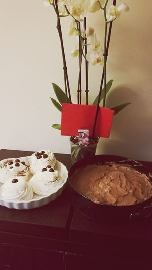 Homemade Chocolate Cheesecake and Meringue with Cinnamon cream Sharingexperiences Cooking Is My Passion Indoors  Sweet Food Indulgence Food