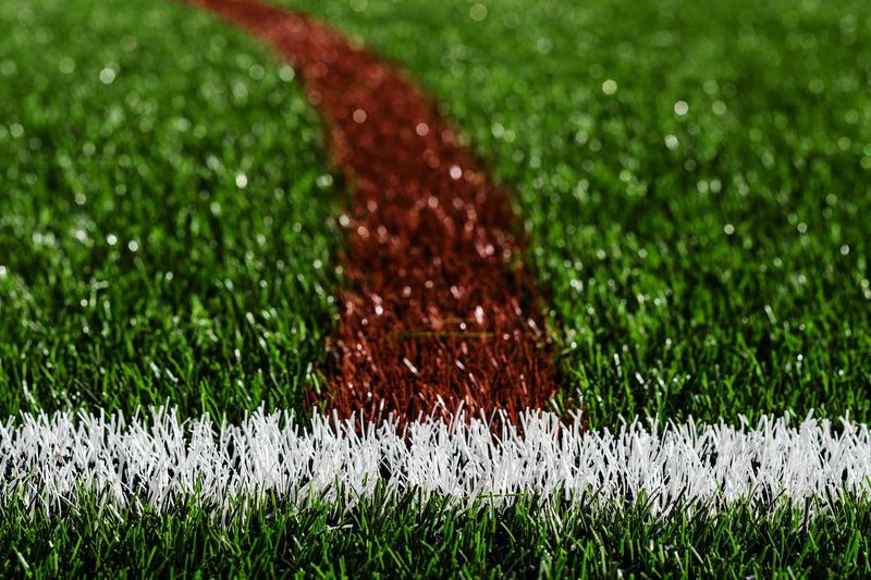 Perfect pitch Curved  Lines Artificialgrass Astroturf Turf Sportsground Minimalism Minimal Soccer Field Sport Soccer Playing Field Close-up Grass Green Color Blade Of Grass