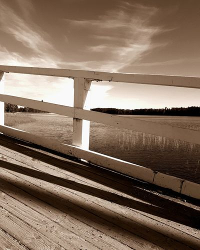 Bridge Water Sky Scenics Outdoors No People Rustic Rusticbeauty Rustic Structure Rustic Style Lake Clouds Landscape Old Art Bridge - Man Made Structure Breathing Space EyeEmNewHere Woodenbridge Wood - Material Finland Bridge Finland
