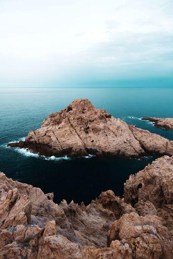 Blue island in