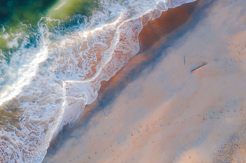 loving of colourful wave Beauty In Nature No People Water Scenics - Nature Nature Day Tranquility Land High Angle View Tranquil Scene Sea Non-urban Scene Beach Outdoors Idyllic Motion Environment Remote