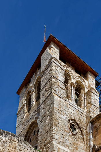 Church of the holy sepulchre against clear blue sky