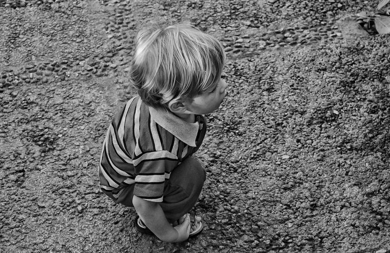 Click! 📸👦 ChildhoodChildren Photography Infancy High Angle View Boys Children Only Outdoors Child Day One Boy Only Sand Full Length People