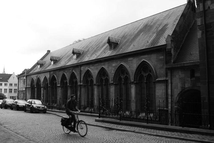 Black & White Maastricht Holland Architecture Bicycle Black And White Black And White Photography Blackandwhite Photography Maastricht Maastricht,NL