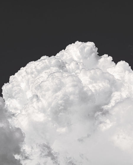 Low angle view of white sky