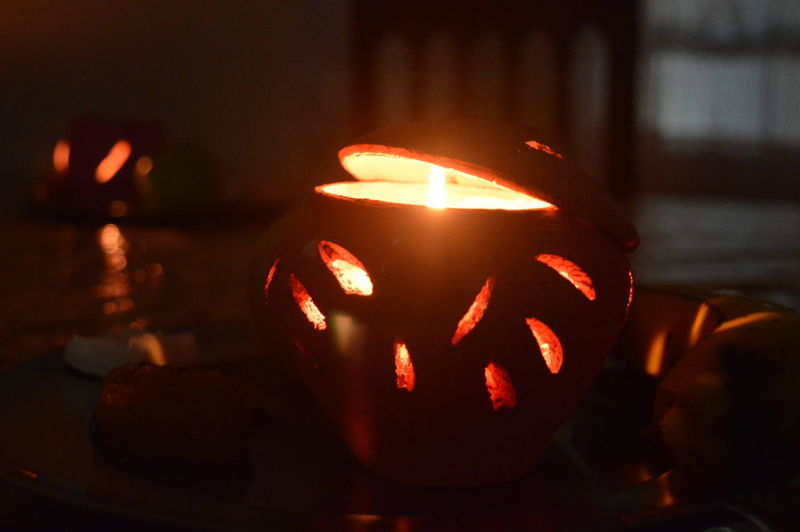 Celebration Close-up Cultures Earthen Lamp Flickering Flame Indoors  Lamp Tradition