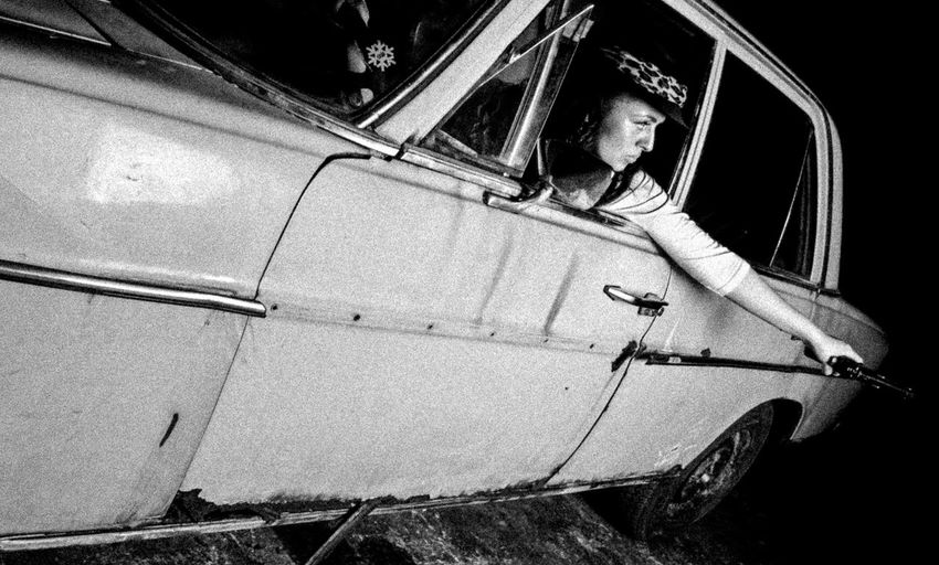 Black & White Car Maastricht Modelgirl Movie Style Old Mercedes-Benz One Person Outdoors People Photoshoot Shootout Young Adult