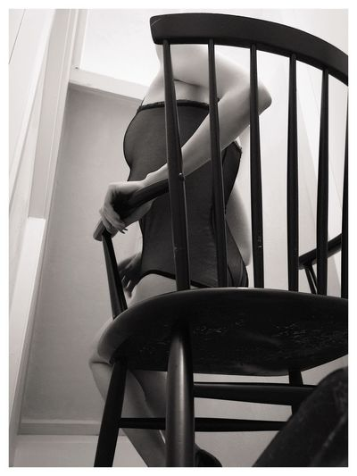 Lina Black And White Rocking Chair Perfection The Female Form