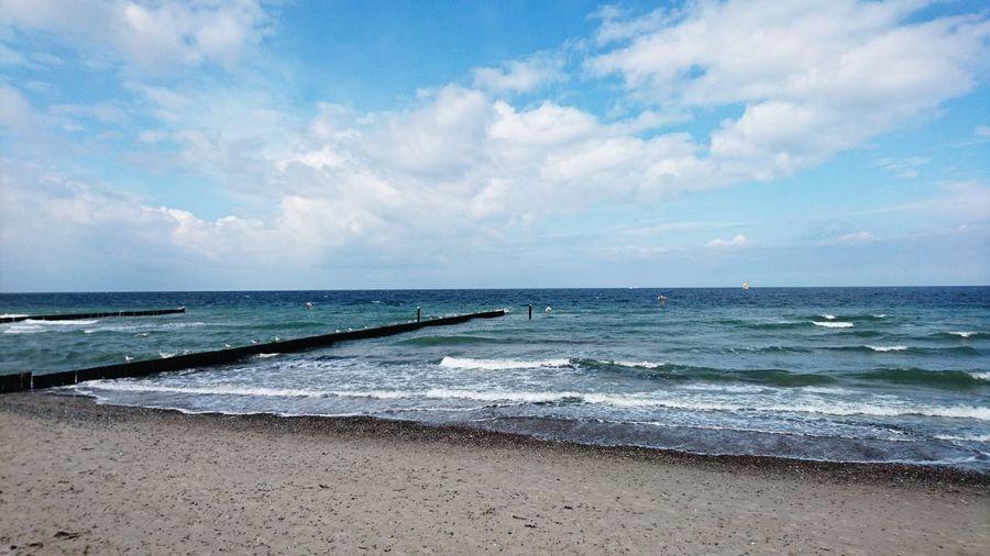 Beach Horizon Over Water Wave Sand Water Sea Sky Beauty In Nature Outdoors Nature Cloud - Sky Ostseestrand Strand Strandspaziergang Ostseeküste