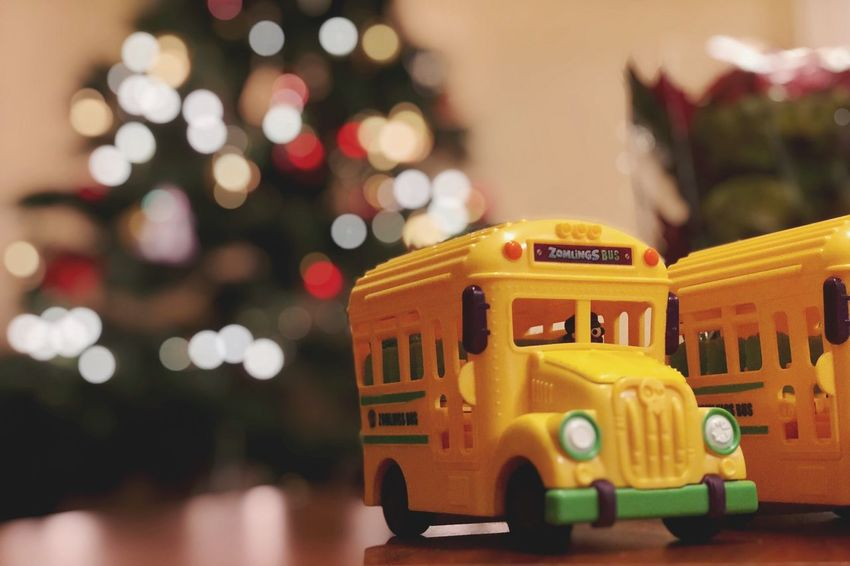 Zomlings go to school IPhone X Photography Bokeh Balls Bokeh Christmas Close-up Illuminated Land Vehicle Indoors  Night EyeEm Ready