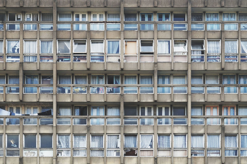 Apartment Architecture Backgrounds Beton Brut Brutalism Building Building Exterior Built Structure City City Life Concrete Facades Façade Full Frame Modern No People Outdoors Repetition Residential Building Robin Hood Gardens Side By Side The Architect - 2016 EyeEm Awards