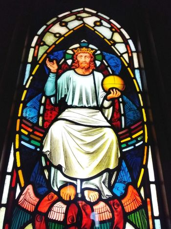 stained glass window from 1877 Multi Colored Place Of Worship Spirituality Religion Window Art And Craft Stained Glass Close-up Architecture Built Structure Decorative Art