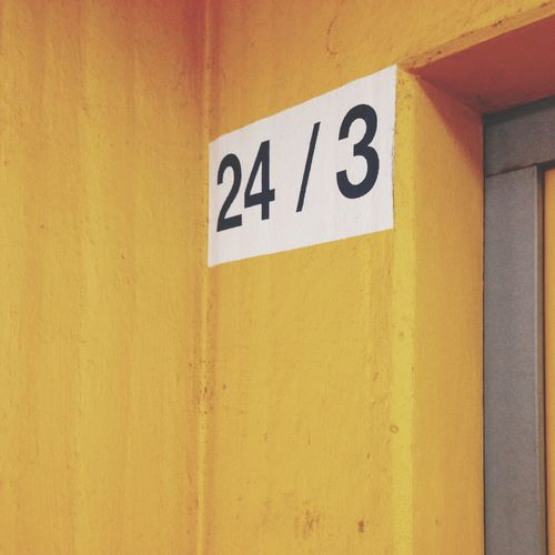 Yellow Architecture Colorful Numbers Architectural Detail Airport Car Park Wall Architecture_collection Colors