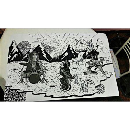 Papinylosperrobots Drawing Friends Costarica Dibujodeldia Art Design Rockeando
